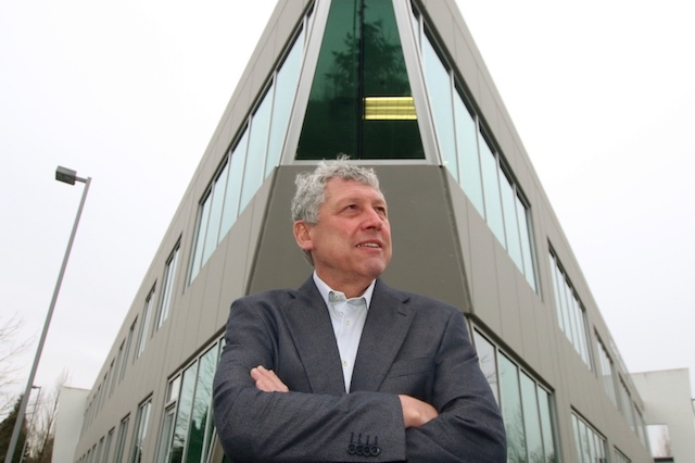 Rod Fram in front of Transpacific building